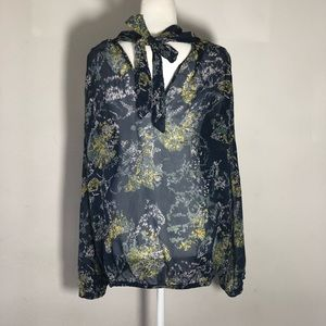 💐7 For All Mankind silk floral blouse 🌟💐